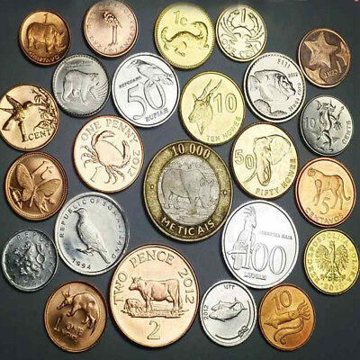 10 PCS Set Different Animals Coins Not Duplicate ,UNC