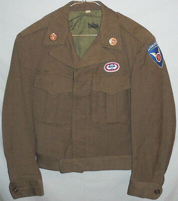WWII -11th Airborne Division-Vintage US Army Paratrooper Uniform Ike Coat/Jacket