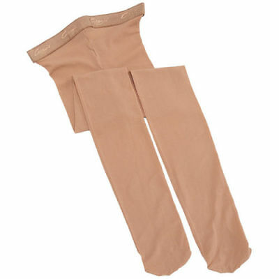 Capezio Hold & Stretch Footed Tight.  Suntan.  Large (12-14)