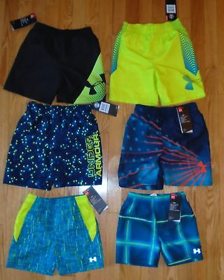 669c850eadfce Under Armour Baby Boys Swim Trunks Lined Shorts Bathing Suit Toddler 2 3 4  5 NWT