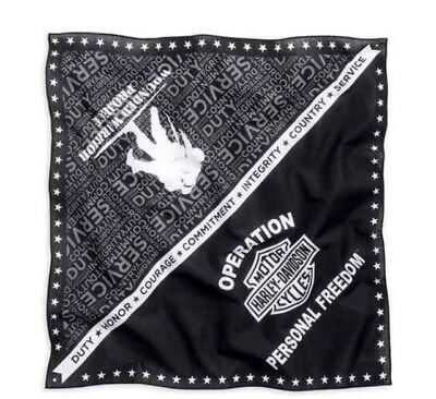 NEW Harley-Davidson® Wounded Warrior Project Bandana 99453-16VM black white grey