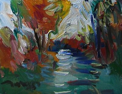 JOSE TRUJILLO Canvas Oil Painting Impressionist ORIGINAL COLORIST Marsh Land coa