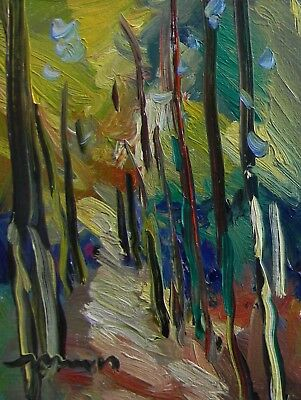 JOSE TRUJILLO Canvas Oil Painting Impressionist ORIGINAL Expressionism Birch