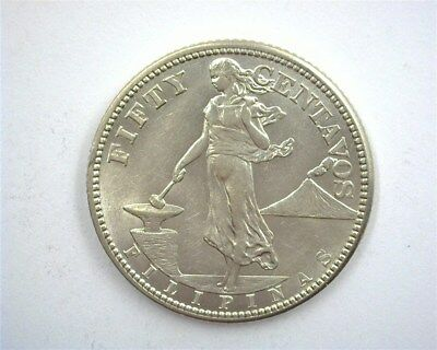 Philippines 1919-S Silver 50 Cents  Choice Uncirculated  Km#171