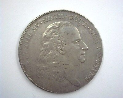 Sweden 1816-Ol Silver Riksdaler About Uncirculated  Rare Type!!!