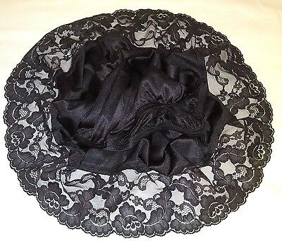 "Beautiful Vassarette Half Slip Style 11-805 Sz 2Xl 26""/46 Black 4"" Lacy Hem Sexy"