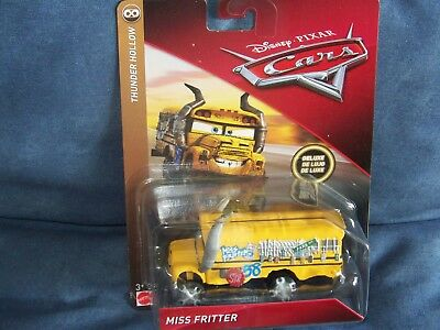 Rare Le Bus Disney Pixar Cars 3 Miss Fritter Serie Thunder Hollow Demo Derby