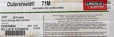 LINCOLN ELECTRIC ED026804 MIG Welding Wire, 71M 0.035, 10 LB. Spool.
