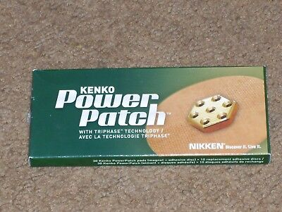 (1 Box Of 30) Nikken Kenko Power Patch Magnets #1456 - New In Sealed Box