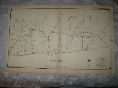 Vintage Antique 1917 Brookhaven Middle Island Suffolk County New York Map Rare