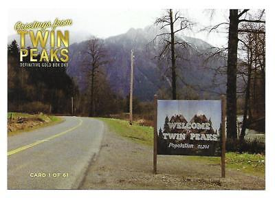 """Twin Peaks Gold Box Postcard #1  """"Welcome To Twin Peaks Sign"""" Post Card"""