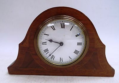Vintage Small Wooden MANTLE CLOCK Made In France - E26