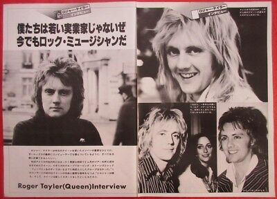 Roger Taylor Queen 1978 Clipping Japan Magazine K3 A11 4Page