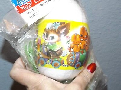 Vintage Holiday EASTER BUNNY TRAIN CHICKS LAMB Bead Sequin Flowers Ornament Kit