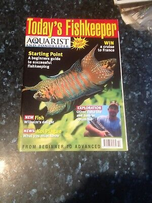 Aquarist & Pondkeeper Todays Fishkeeper magazine October  2001 - .good condition