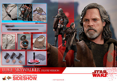Hot Toys Luke Skywalker Deluxe 1/6 Scale Figure Star Wars The Last Jedi Sideshow