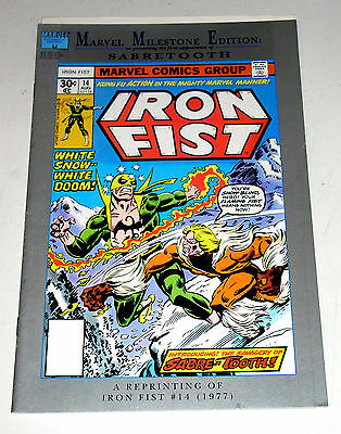 Iron Fist #14 (1St App Of Sabre-Tooth) Reprinted In Marvel Milestone