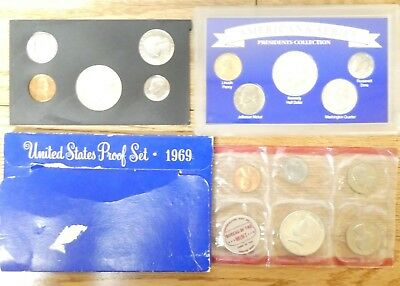 1964 1969 1970 Us Mint Proof Sets Lot of 4