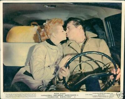 Lucille Ball Desi Arnaz Forever Darling 1956 Lobby Card Kissing