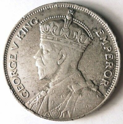 1935 NEW ZEALAND 1/2 CROWN - KEY DATE - Hard to Find SILVER Coin - Lot #J14