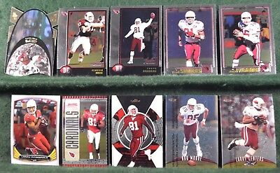 Lot of 20 Arizona Cardinals w/ Leeland McElroy, Larry Fitzgerald Inv#N050
