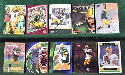 Lot of 20 Brett Favre Cards Green Bay Packers Inv#N054