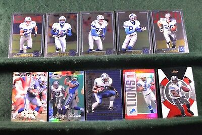 Lot of 20 Detroit Lions w/ Barry Sanders, Roy Williams, Kevin Jones Inv#N040