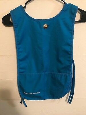 Girl Scout Daisy Blue Apron Tunic Vest for Patches with Daisy Pin