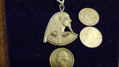 PEWTER egyptian SUN god myth KING Pharaoh pendant Charm hip hop Necklace JEWELRY