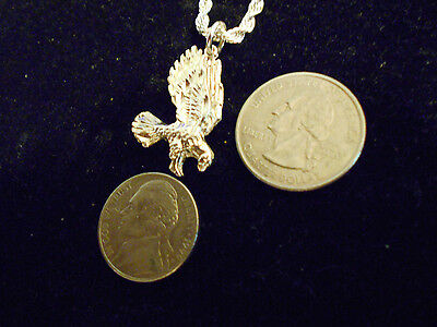 BLING SILVER plated eagle BIRD mascot miltary pendant charm necklace JEWELRY EP