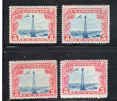 1¢ Wonder's ~ Us Airmail #c-11 Vf Mnh Wholesale Lot Of 4 All Shown ~ E55