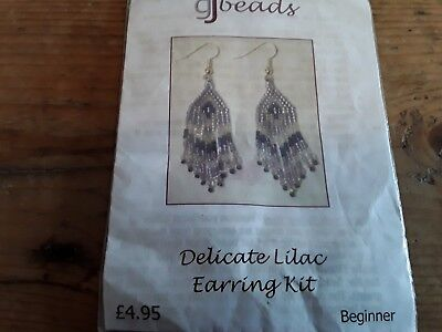 Earrings glass gj bead kit beautiful quality. Unopened. Contents complete.