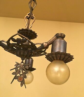 Vintage Lighting extraordinary 1930s foyer chandelier