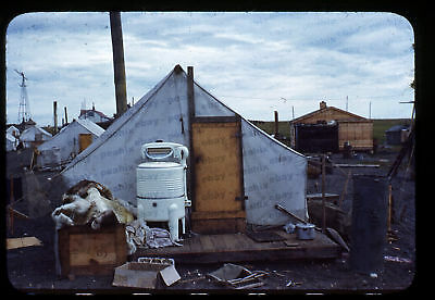(097) Vintage 1950s 35mm Slide Photo - BARROW AK - Eskimo Camp, Cape Smythe