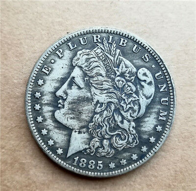 Copper Collections coin Antique Silver plated Commemorative Coin 1885-o