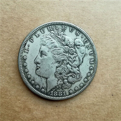 1881-s Collections coin Metal copper  Silver plated Commemorative Coin