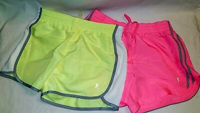 Two Pairs Girls Danskin Now Running Shorts w/Inner Brief Size XS/XCH (0-2)
