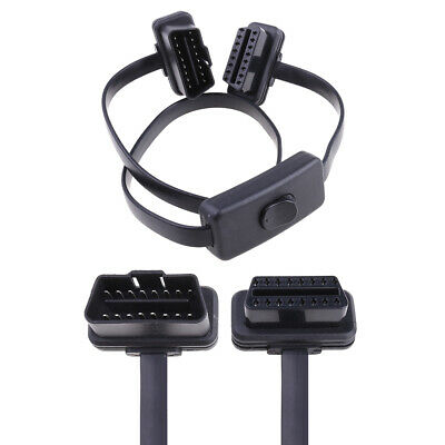 OBD2 16 Pin OBDII Auto Car Extension Cable With Switch Type Adapter Connector