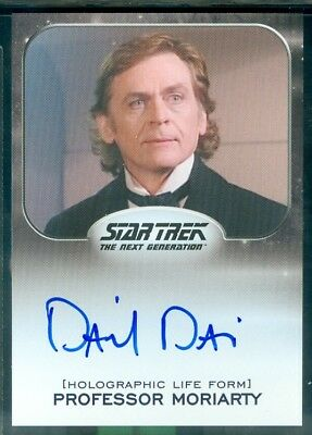 Star Trek Aliens 2014  Daniel Davis as Professor Moriarty  Autograph  Card