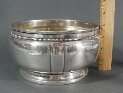 Antique Christian F Heise Danish .826 Silver Hand Hammered Arts & Crafts Bowl