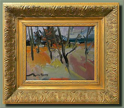 JOSE TRUJILLO ORIGINAL IMPRESSIONISM FRAMED Oil Painting WOODLAND AUTUMN FALL