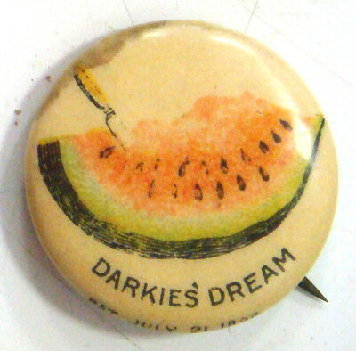 Pinback Button - DARKIE'S DREAM (Watermellon) American Pepsin Gum  Co.