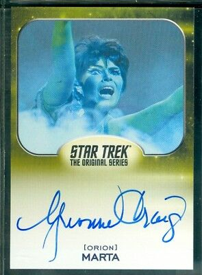 Star Trek Aliens 2014  Yvonne Craig as Marta  Autograph  Card