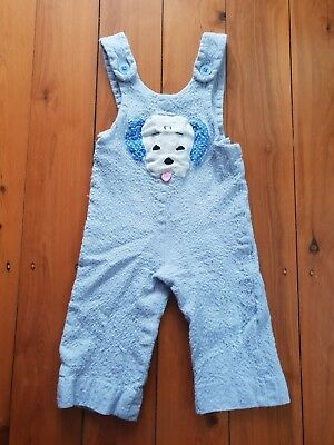 Vintage Baby Dungarees Overalls 60s blue