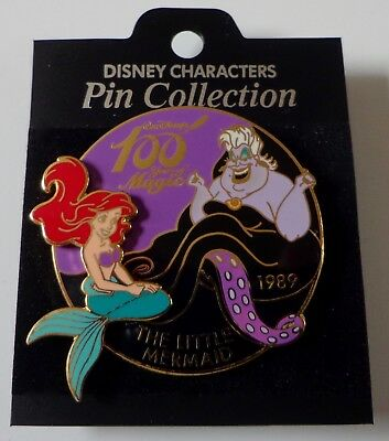 Disney 100 Years of Magic The Little Mermaid Ariel & Ursula Pin LE