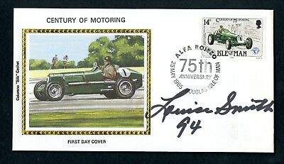 """LOUISE SMITH Nascar """"First Lady of Racing"""" Autographed Hand Signed FDC - d. 2006"""