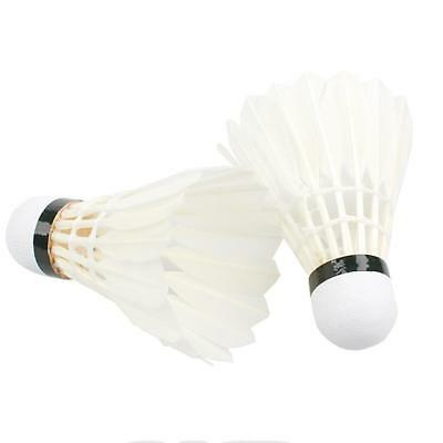 Weitere Ballsportarten Bälle 5Pcs Game Sport Training White Duck Feather Shuttlecocks Birdies Badminton FL