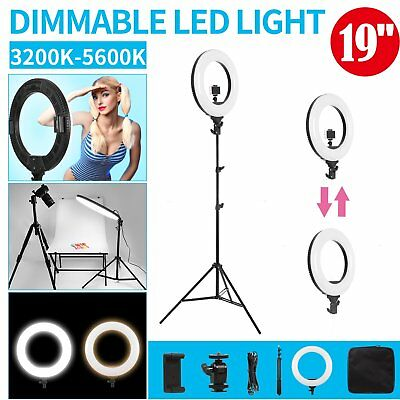 """19"""" 5600K Dimmable Diva LED Ring Light SMD with Light Stand for Makeup Studio"""