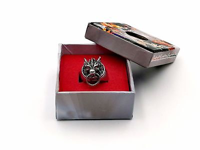 Final Fantasy VII 7 Cloud Strife Wolf Head Cosplay Ring Gift & Box