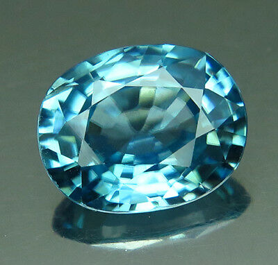 4.03ct. Blue Zircon Cambodia VVS